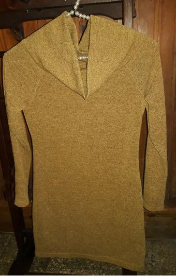 Sweater C/cuello Volcado De Mujer Talle M