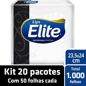 Kit Guardanapo Elite Folha Dupla 20 Pacotes - 50 Unids Cada