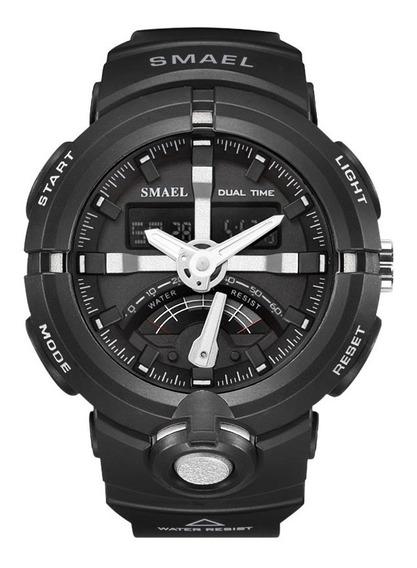 Relógio Masculino Smael Esporte Cronômetro Á Prova D