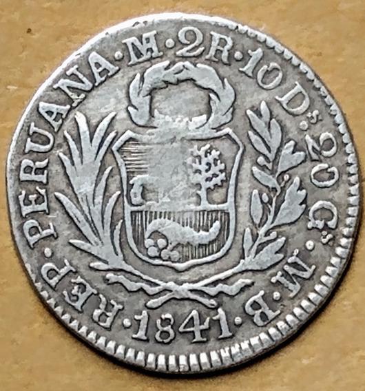 Moneda De Plata Perú (1841)