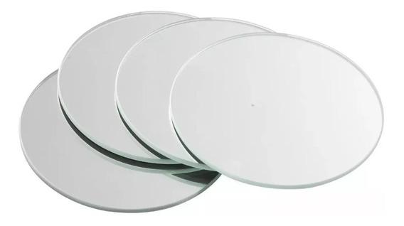 Espejo Redondo 25cm De Diámetro Centro De Mesa X 10 Unidades