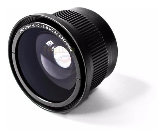 Lente Fisheye Olho De Peixe 58mm Canon 80d 70d T7i T6i T5i