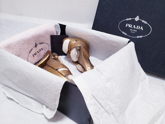 Sandalias Prada Originales 100% Piel Con Textura