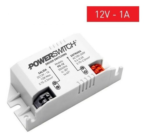 Fuente 1a Powerswitch 110-220 Vac / 12 Vdc. Arealed Rosario
