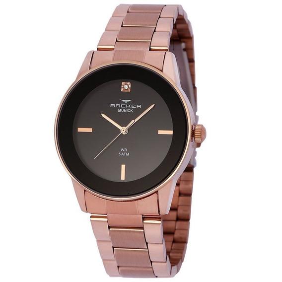 Relógio Backer Feminino 3999113f Pr Original Barato