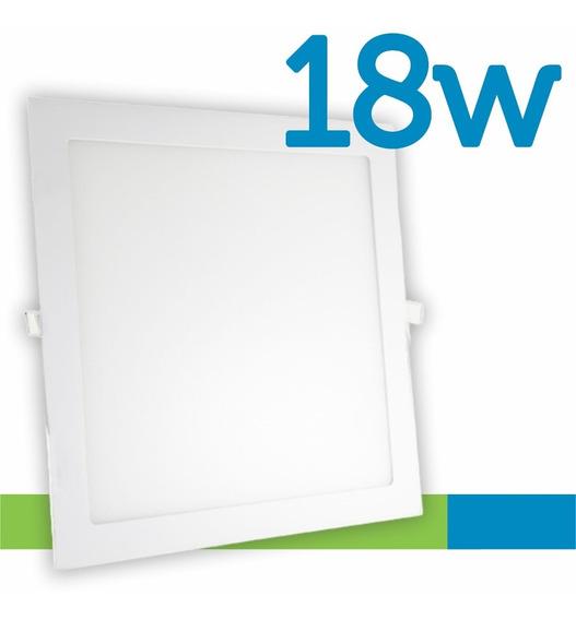 Painel Plafon Luminária Embutir Quadrado 18w Bivolt 6000k