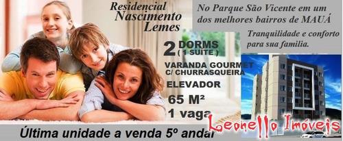 Lançamento Residencial À Venda, 64 M², Parque São Vicente, Mauá. Última Unidade!!! - Ap0265 - 67854955