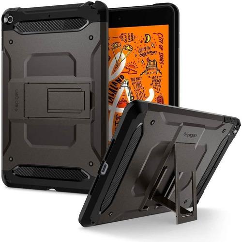 Imagen 1 de 6 de Funda Spigen Tough Armor Tech iPad Mini 5 Gris