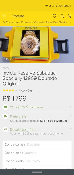 Relógio Invicta Reserve 12909