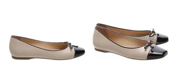 Sapato Salto Rasteiro Multimaterial Verniz-arezzo