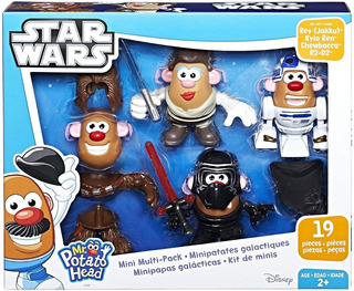 Mr. Potato Head Star Wars Kylo Ren, Chewbacca, R2, Rey Jakku