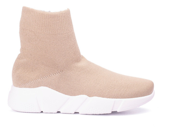Zapatillas Mujer Botita Urbana Tipo Medias Lurex Elastizado