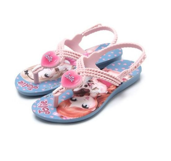 Sandalia Infantil Menina Grendene Jolie 21888 Azul/rosa