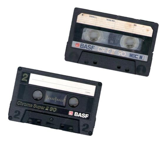 Lote De 2 Fitas Cassete K7 Basf Chrome Extra/super 2 C 90