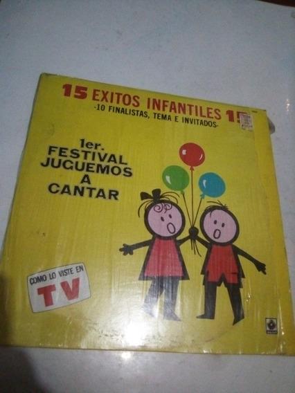 Lp 15 Éxitos Infantiles 1er Festival Juguemos A Cantar