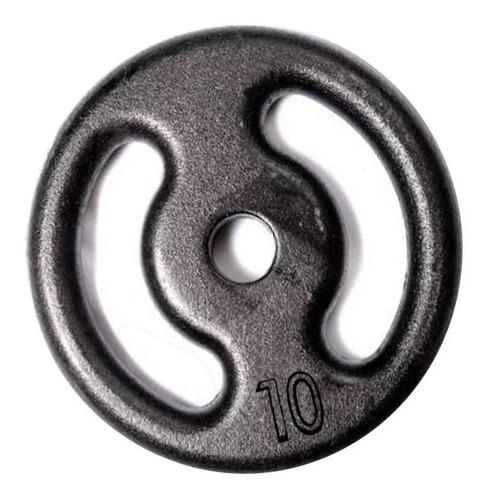 Imagem 1 de 2 de Anilhas Pintadas - Pesos  Para A Musculação 10kg