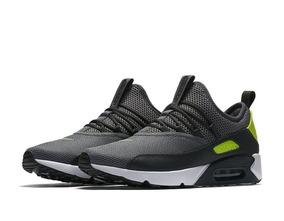 Tenis Masculino Nike Air Max 90 Ez - Cinza E Verde !