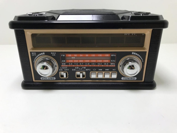 Rádio Retro Ecopower Ep-f130b Fm/am - Usb