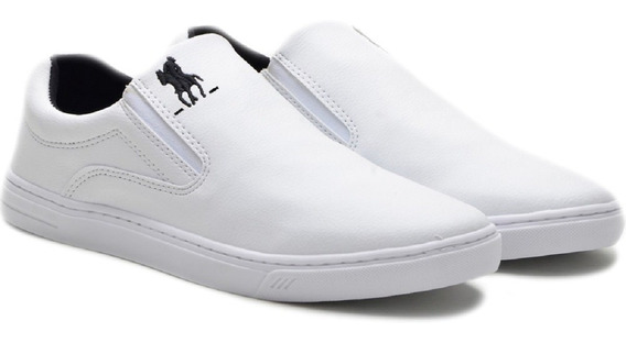 Tenis Slip On Polo Masculino Casual Calce Facil Urbano Leve