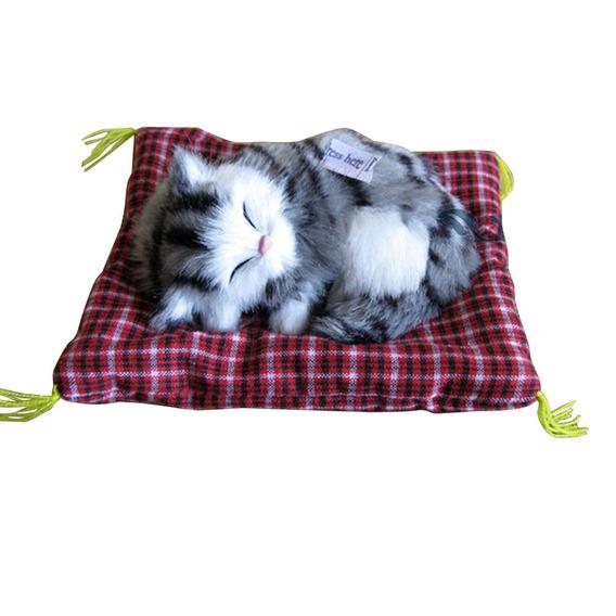 Adorvel Simula??o Acolchoada Sleeping Cat Com Som Crian?as