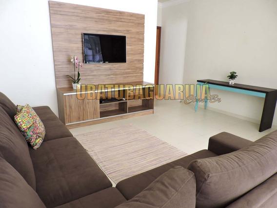 Apartamento 3 Quartos Em Ubatuba Com Piscina, Churrasqueira