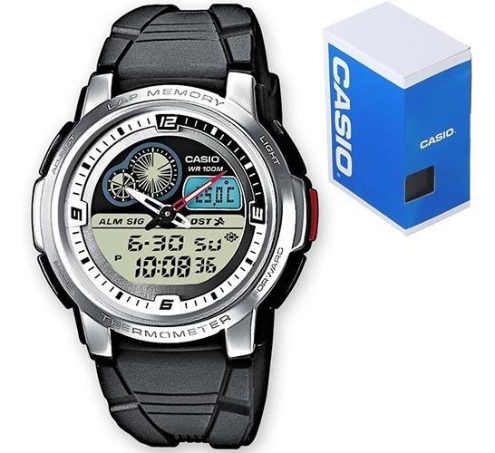 Reloj Casio Aqf102 Caucho - Termómetro - 50 Memorias - Crono