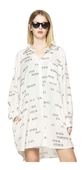 Camisa Lyrics Casual Mujer Complot