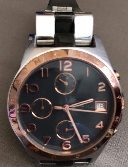 Promoção!!! Relógio Marc Jacobs Orig. Cronôm. Pulseira Prata