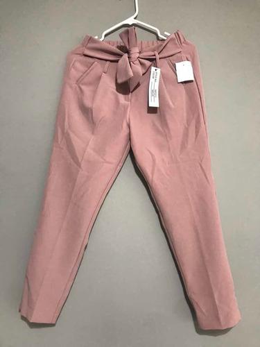 Pantalón Con Cinto Moño