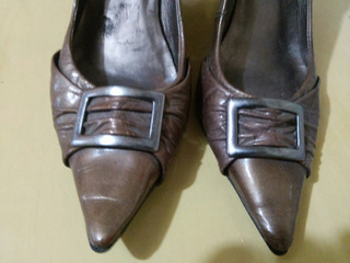 Sapato Anabela Via Uno Tamanho 36