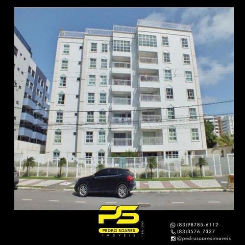 Imagem 1 de 7 de Cobertura Com 3 Dormitórios À Venda, 127 M² Por R$ 946.485 - Tambaú - João Pessoa/pb - Co0105