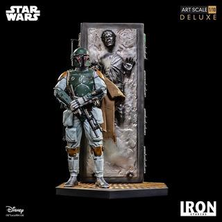 Iron Studios Star Wars Boba Fett Carbonite Con Detalle