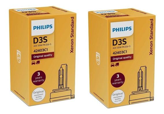( Autenticada E Original ) Philips D3s 4200k Xenon Standard