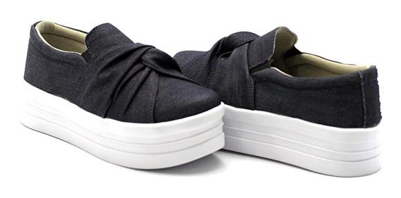 Casual Sola Alta Moda Feminino Flatform Slipon Dk Shoes Nó