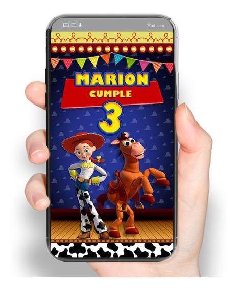 2x1 Video Invitación Jessie Toy Story, Invitacion Animada.