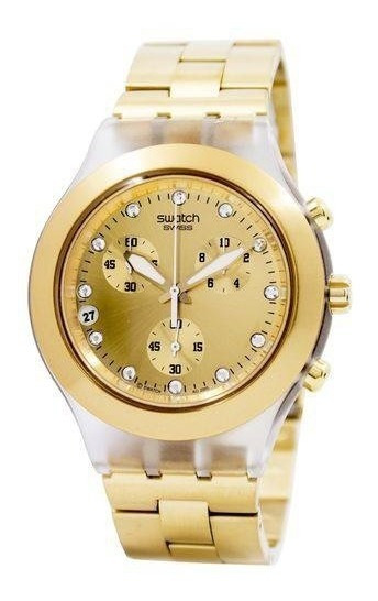 Relogio Swatch Full Blooded Dourado