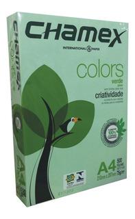Papel Verde A4 500 Hojas 75 Gr Laser Inkjet Papeles Color