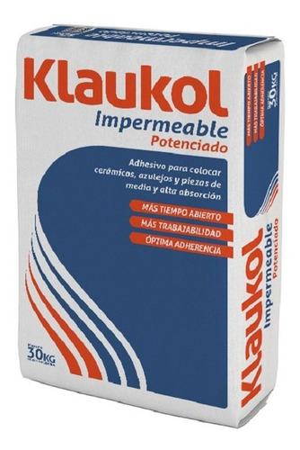 Pegamento Adhesivo Impermeable Potenciado 30 Kg Klaukol