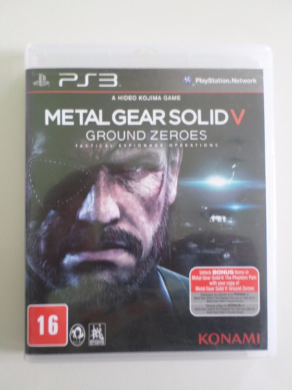 Metal Gear Solid V 5 Ground Zeroes Ps3