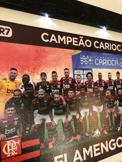 Quadro Artesanal Futebol Flamengo 3 Luzes De Led