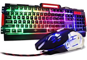 Kit Teclado + Mouse Gamer Exbom Bk-g3000 Semi-mecânico Metal
