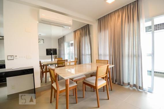 Apartamento No 20º Andar Mobiliado Com 1 Dormitório E 2 Garagens - Id: 892985498 - 285498