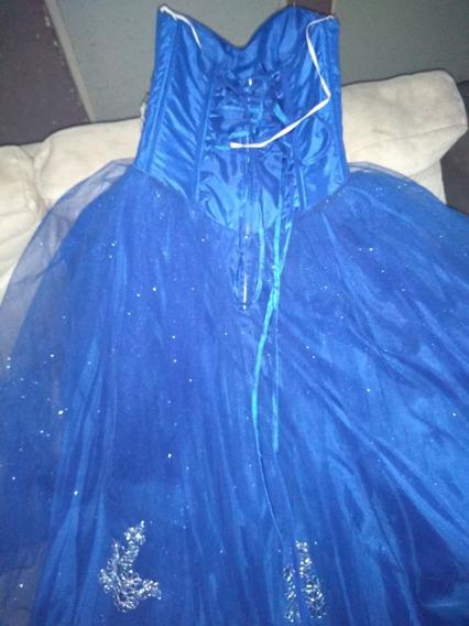 Vestido De Xv Años Azul Rey Nuevo Con Accesorios