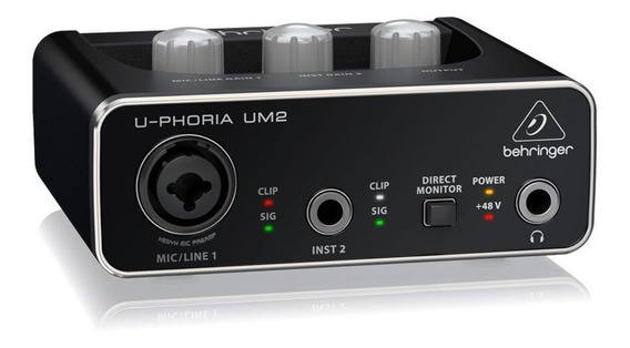 Interface De Áudio Behringer Um2 U-phoria Usb 48 Khz