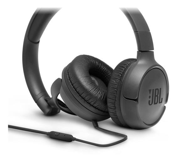 Fone De Ouvido Com Microfone Jbl Tune 500 Preto T500