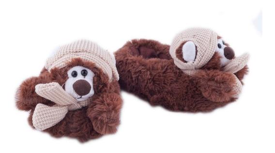 Pantuflas Con Formas De Animales Abrigadas Gummi Bebe Niñas Niños