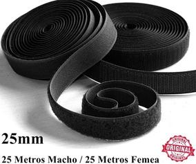 Kit Laço Fita Velcro Artesanato 25mm Confecção 25 Metros Pro