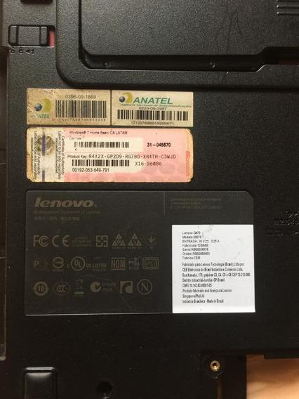 Peças Computador Lenovo G470