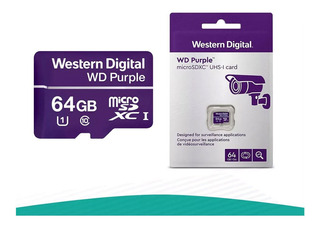 Memoria Micro Sd 64 Gb Western Digital Purple