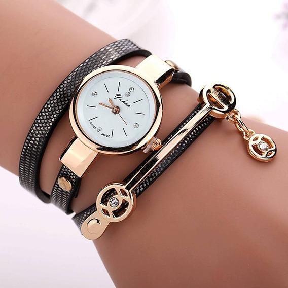 Relógio Feminino Bracelete Vintage Promoção Várias Cores
